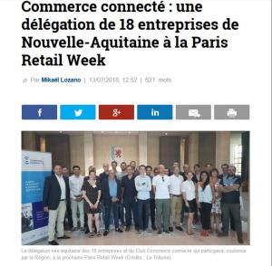 Télécharger l'article de La Tribune, 13 Juillet 2018